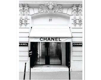 Chanel Paris Boutique Store Poster Print 31 Rue Cambon Paris France. Fashion Print Art Print - Chanel Store Chanel Shop Chanel Paris