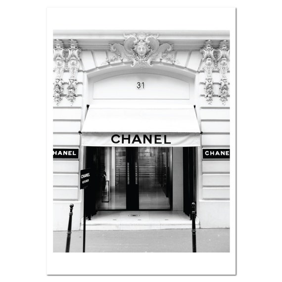 chanel paris boutique store poster print 31 rue cambon paris. Black Bedroom Furniture Sets. Home Design Ideas