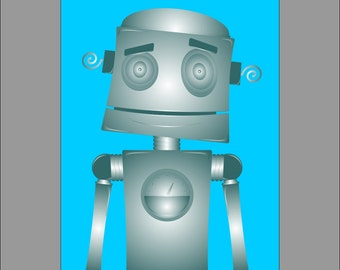 Pop Art Robots, set of three 11x14 Digital Download