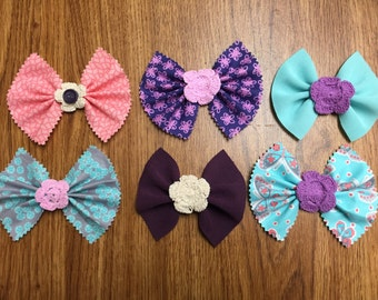 Flower Bow Collection {Medium Sized}