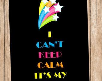 Keep Calm Neon Art