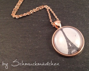 Necklace rose gold Eiffel Tower