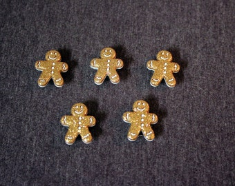 Glitter Gingerbread Men Magnets