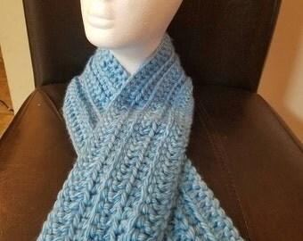 Mens crochet scarf