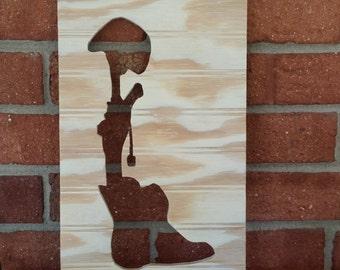 In memory of fallen soldier