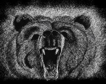 Grizzly Bear Original Print