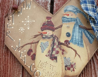 Winter welcome plaque