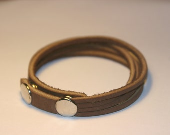 Brown Four strand leather bracelet