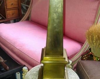 Antique Brass Obelisk
