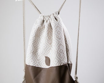 Feather Backpacks/ Drawstring Backpack/ Drawstring Bag