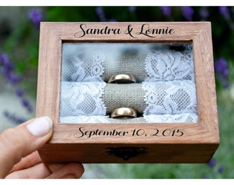 ring box, Personalized ring box, wedding box, wooden ring box ,ring bearer box,engagement ring box, custom ring holder (RX33)