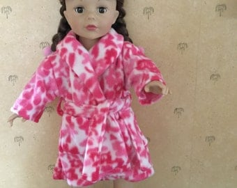 Bathrobe and slippers for 18 inch doll