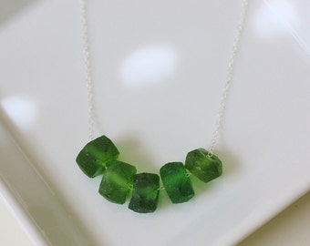 recycled glass necklace, ethical, fair trade, glass beads, green jewelry, green glass necklace