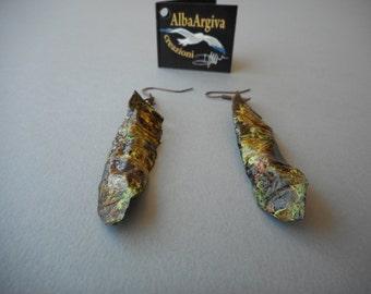 Copper earrings (item # 2)