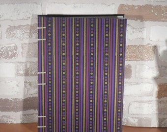Diary A5 Strip points purple black / / blank / / notebook / / unique / / gift / / Coptic binding