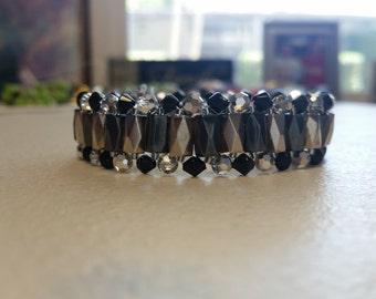 Black and Silver Hematite Bracelet