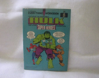 Hulk Super Hero Workbook