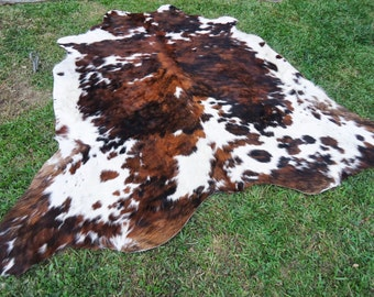 New Brazilian Hair On Cowhide Rug Tricolor Cowhide Leather