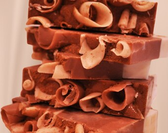 Chocolat Cake Soap Natural-Organic-Raw-Vegan-Luxury-Handmade  USA