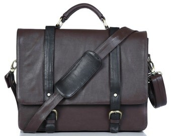 genuine leather messenger bag, cross body messenger bag, office bag, laptop bag