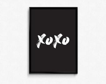 XOXO Digital Print Download