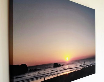 Seascape photography wall art on Canvas