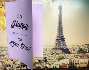 So Happy To See You Card