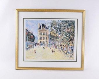 Jacques Bouyssou vintage signed offset lithograph