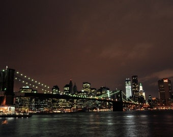NYC Bridge Skyline 8x10