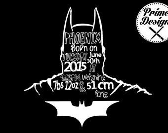 batman birth announcement