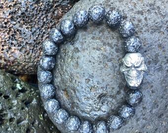 Grinning Skull Lava Bracelet