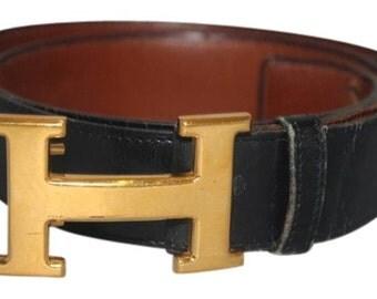 Black Belt Gold Buckle HTL88
