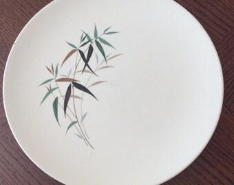 Royal Doulton Bamboo Dinner Plate, Vintage Plate, 1970s Plate, Midcentury ceramic, Vintage Royal Doulton, Retro Dinner Plate