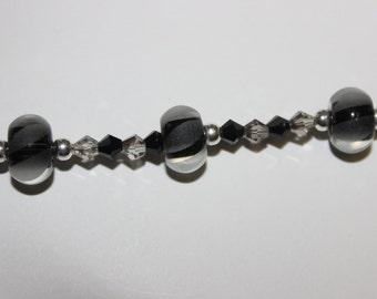 Swarovski Crystal Black Beaded Bracelet