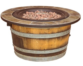 1121 Wine Barrel Fire Pit