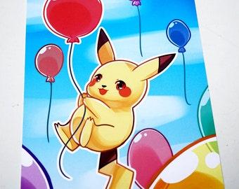Pokemon Pikachu Postcard