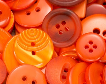25g Button packs, black buttons, white buttons, red buttons, orange buttons, yellow buttons, sewing supplies, jewellery making supplies,