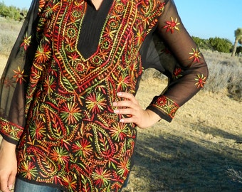 Hand Embroidered Tunic top