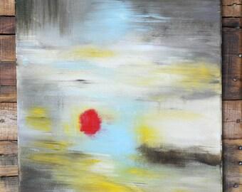 "Abstract Acrylic Canvas Painting, SPARK  20"" x 16"" x 0.75"""