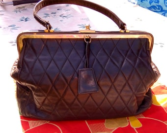 bag 1950 s tempered lamb leather! already worn