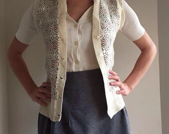 Vintage Sleeveless Cardigan