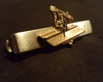 12ct gold table saw tie clip