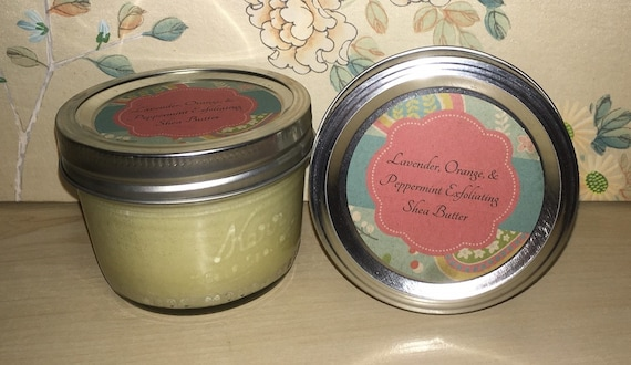 oz. Lavender, Orange, and Peppermint Exfoliating Shea Butter with ...