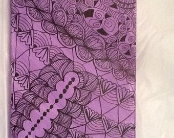Black on lavender Zentangle inspired art