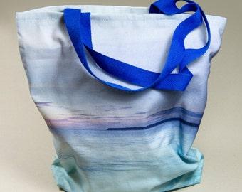 Sunrise, sea view, handmade fabric bag for life