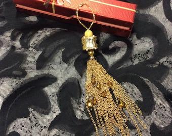 Gold Chain Keepsake Tassel