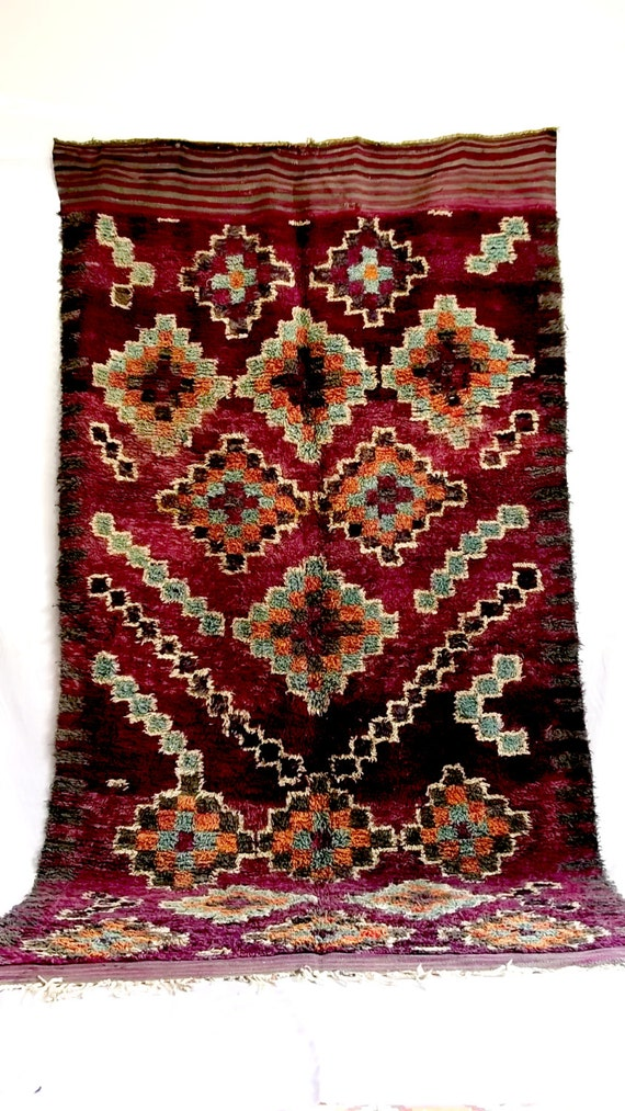 Area Rug Talsint Carpet Tribal berber Artwork from Morocco #B15# vintage unique handcrafted flooring decorative rug home living art decor
