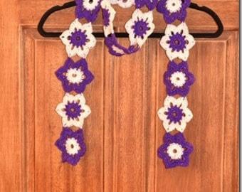 Boho Crochet Flower Scarf