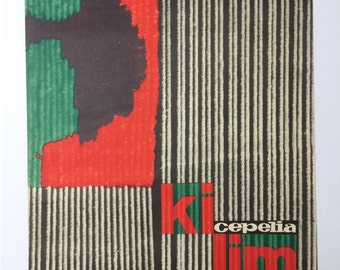 Kilim Cepelia Poster, Polish Poster, Kilim Rugs, 60s Poster, Interior Design, Mroszczak
