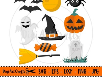 SVG Halloween cutting files / SVGs for cricut / Halloween cut files / Halloween set / instant download / EPS files / files for silhouette